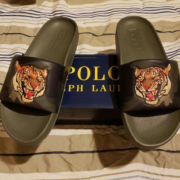 7ccaf127e1251 Polo Ralph Lauren Men Tiger Slides
